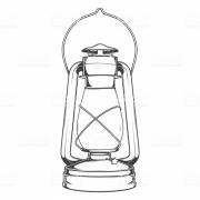 Antique Old Kerosene Lamp