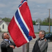 Raising Norwegian Flag